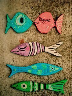 P4080mid century modern driftwood wall fish021 | tikitony | Flickr