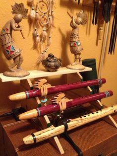 The flutes are simply designed but I repinned this mostly for the Kokopelli figurines