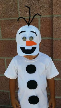 Olaf Snowman Frozen Ana Elsa Boys Birthday Costume Halloween