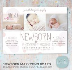 Newborn Marketing Board Template IN006 | Paper Lark Designs