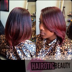 Custom color and silk press by @hairoticbeauty