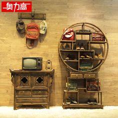 Alta austríaco loja prateleira prateleiras trem de madeira retro, E artigos de decoração(China (Mainland))
