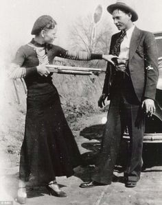 Bonnie Parker and Clyde Barrow.