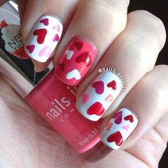 VALENTINE by nails_bychels #nail #nails #nailart