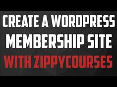 How To Create a Wordpress Membership Site With ZippyCourses - https://www.howtowordpresstrainingvideos.com/wordpress-membership-plugins/how-to-create-a-wordpress-membership-site-with-zippycourses/