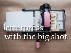 Letterpress with the Big Shot – My Grad Announcements | Britta Swiderski Creative