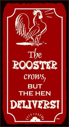The Rooster Crows Vintage Metal Art Country Farm Retro Tin Sign Chicken Signs, Chicken Art, Chicken Houses, Chicken Coops, Custom Street Signs, Custom Metal Signs, Rooster Decor, Red Rooster, Vintage Metal Signs