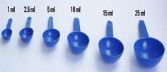 Plastic measuring scoop