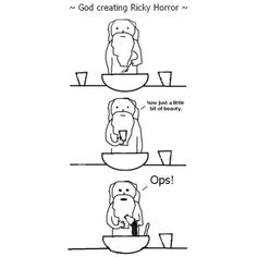 God creating Ricky Horror from motionless in white. Oh and God, it's oops not ops. That's short for optical illusions.