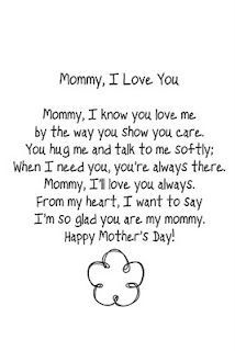 Mommy, I love you (poem):