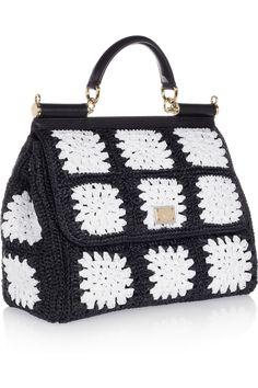 Dolce & Gabbana|The Sicily crocheted tote|NET-A-PORTER.COM