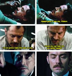 """Two times Watson saved Holmes...and one time he couldn't. (""""Sherlock Holmes: A Game of Shadows"""")"""