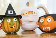 dressed-up-pumpkins...directions for no-carve pumpkin decorating ideas for young children