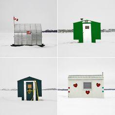 Ice fishing huts pho