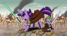 Twilight Sparkle and Spike in Star Wars