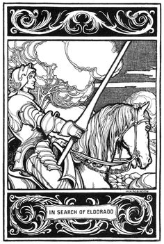 W. Heath Robinson   for the Poem 'Eldorado' by Edgar Allan Poe