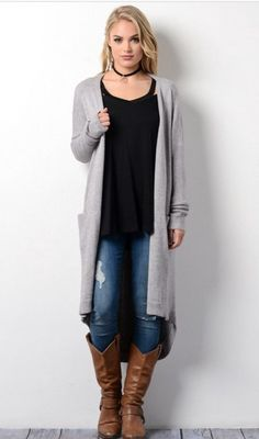 Tell Me About It Duster cardigans are so posh for fall AND winter! Fit S/M 2-8, M/L 8-14 How Should I Style It? Booties and either flares or skinnies! Mustard ETA 11-5