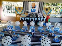 Little Rynoceris 's Birthday / Boss Baby - Photo Gallery at Catch My Party Baby Birthday Decorations, Boss Birthday, Baby Boy 1st Birthday Party, Baby Party, Birthday Party Themes, Family Birthdays, First Birthdays, Boy Birthday Pictures, Boss Baby