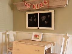 Great chalkbaord! from The Farmer's Nest: DIY