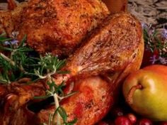 Oven Roast Chicken with Fresh Thyme and Honey Butter