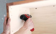 Step With your cleat base now in place, fasten your bottom plywood panel piece by drilling the corners of the panel into each cleat.
