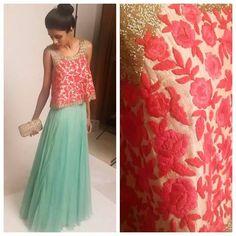 Diy lehenga. Diy dress design.