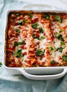 "<a href=""http://cookieandkate.com/2015/spinach-artichoke-lasagna-recipe/"" target=""_blank"">Spinach Artichoke Lasagna</a>"