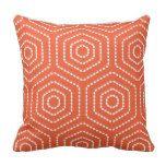 Tango Orange Geometric Pattern Outdoor Pillows more great gift ideas at www.dramaticallycorrectdesigns.com