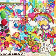 "Photo from album ""{over the rainbow}"" on Yandex. Over The Rainbow, Rainbow Png, Cute Scrapbooks, Digital Scrapbooking Freebies, Digital Papers, Paper Butterflies, Scrapbook Designs, Scrapbook Kit, Free Graphics"