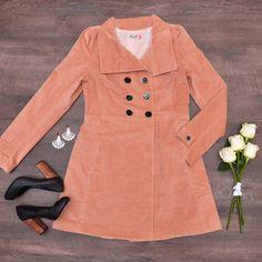 casaco veludo botões rosê | Antix | carola e sua cartola