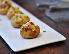 Mini Twice-Baked Potatoes: Tiny taters get the twice-baked treatment for an app that's sure to please.