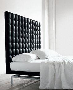 Chief bed design by Alivar the modern bed by Bruno Rainaldi High Headboard Beds, Bed Headboard Design, White Headboard, Headboards For Beds, Bed Design, Picture Headboard, Quilted Headboard, Bed Picture, Leather Headboard