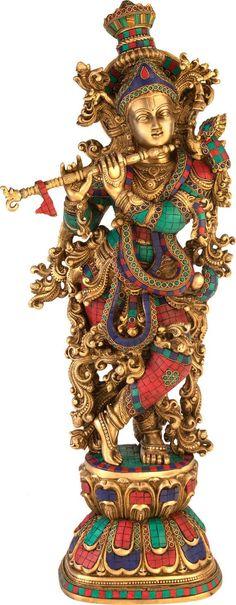 Krishna Flute, Krishna Statue, Bal Krishna, Cute Krishna, Jai Shree Krishna, Radha Krishna Love, Radhe Krishna Wallpapers, Lord Krishna Hd Wallpaper, Lord Krishna Images
