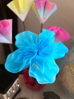 Hand Dyed Coffee Filter Flowers