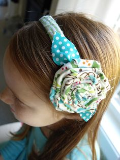 Less-Than-Perfect Life of Bliss: Fabric Flower Headbands & Some Bliss For Sale