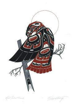 Red Tailed Hawk native art