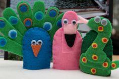 Polar Bear, Polar Bear -- Finger puppet Set. $38.00, via Etsy.