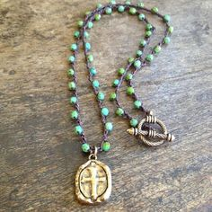 Crochet Necklace Wrap Pray for Surf Knotted door TwoSilverSisters
