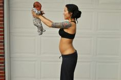 Mommy & Baby workouts: No Equipment - CrossFit Work Out - 1 Week beginner CrossFit workout, CrossFit, crossfit for pregnant women, fit mommy workouts, no equipment crossfit workout, no equipment workouts