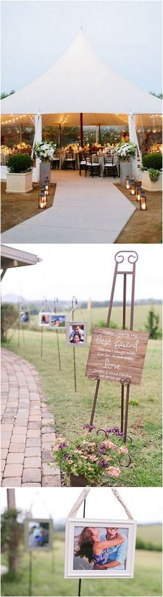 rustic wedding entrance decoration ideas with photos_
