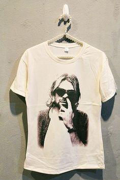 Kurt Cobain Nirvana T-Shirt via Etsy