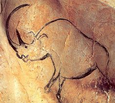 Lascaux France Cave Painting Rhino | the caves are not open to the public in fact they have been sealed off ...