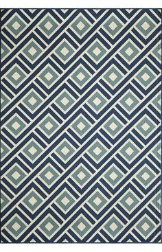 Designer rugs at 60% off! Momeni Baja BAJ7 Blue Rug