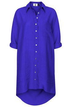 **Drop Back Shirt Dress by Unique - Unique  - Clothing