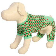 Worldpet Dog Pajamas Starburst, Multiple, Green