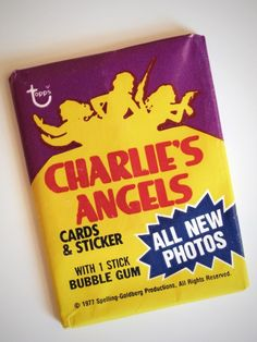 Charlies Angels Cards  we all collected them in school