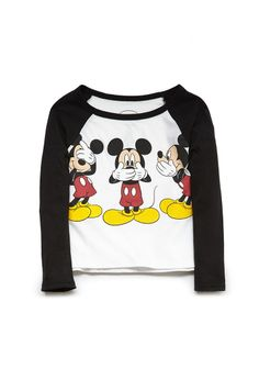 Mickey Mouse Baseball Tee (Kids) | FOREVER21 #F21Girls #Juniors #MickeyMouse