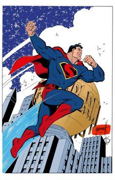 Art Deco Superman by Tom Grummett, Gerry Turnbull and Al Gordon