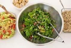 What we ate for lunch: Quinoa and Corn Salad, Basil-Walnut Pesto with Quinoa, Arugula and Strawberry Salad with Creamy Poppy Seed Dressing, and Arugula and Strawberry Salad with Creamy Poppy Seed Dressing, Wholeliving.com #lunchbunch