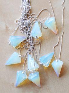 opal pendulum necklace
